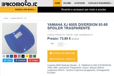 Cupolino  YAMAHA XJ 600S Diversion Tipo Spoiler trasparente incolore