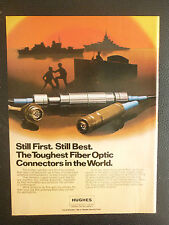 6/1984 PUB HUGHES AIRCRAFT COMPANY FIBER OPTIC CONNECTORS ELECTRONIC ORIGINAL AD