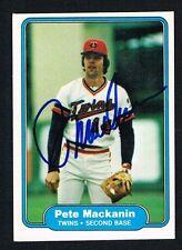 Pete Mackanin #556 signed autograph auto 1982 Fleer Baseball Trading Card