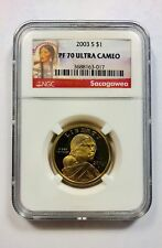2003 S $1 PF70 Ultra Cameo Gold Dollar Coin Sacagawea Red Label Ships Fast