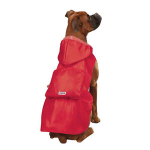 Kong Stowaway Ripstop Raincoat Dog Jacket - Folds into its own Pouch
