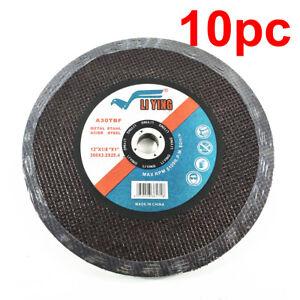 "10pc 300mm 12"" Cutting Disc Wheel Metal Cut Off Blade Drop Mitre Saw 25.4mm Bore"