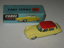 Corgi Toys No. 210 Citroen D.S.19 Yellow With Red Roof Near Mint In Original Box