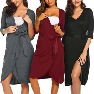 Pregnant Women Maternity Dresses Casual Nursing Pajamas Breastfeeding Nightdress