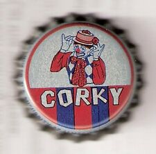 Corky The Clown Vintage Unused Cork Lined Soda Cap Crown St. James Productions