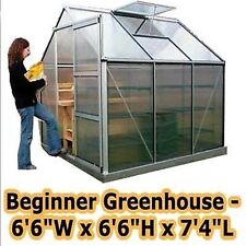 "Greenhouse - 6'6"" W x 6'6"" H x 7'4"" L - Beginners Kit - Backyard - Commercial"