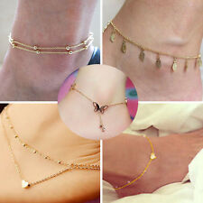 5Pcs Sexy Women Chain Ankle Anklet Bracelet Barefoot Sandal Beach Foot Jewelry