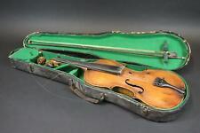 Alte Geige mit Zettel Jacobus Stainer + Bogen & Koffer (MÖ1301)