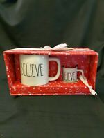 Rae Dunn By Magenta Believe Mug And Mini Mug Ornament Ceramic Set Christmas Gift