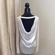 Lululemon Unity Pullover LS Top Size 6 Polar Cream Boolux Knit Drape Back EUC!