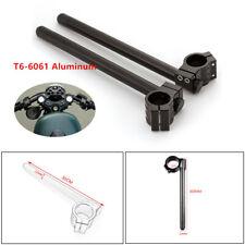 50mm Black CNC Higher Raised Riser Clip Ons Clipon Fork Handle Bars Handlebar