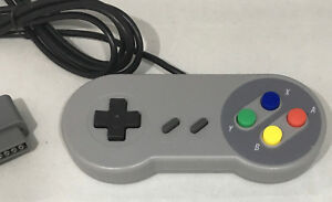 4 X GAME CONTROLLERS GAMEPADS FOR NINTENDO SUPER FAMICOM JAPAN BRAND NEW GREY