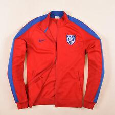 Nike Herren Sweater Sweat Tracktop Gr.M USA Jacke Football Soccer Rot 86612