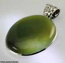 GREEN ONYX PENDANT 925 STERLING SILVER ARTISAN JEWELRY COLLECTION Y165B