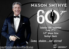 James Bond invitation, movie parody invitation, male birthday, funny bday invite