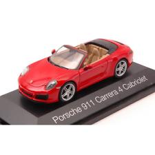 PORSCHE 911 CARRERA 4 CABRIO RED 1:43 Herpa Auto Stradali Die Cast Modellino