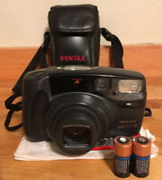 Pentax Zoom 105R Point and Shoot Camera + Case