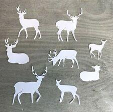 Stanzschablone/ Cutting dies Rehe, Hirsche, xmas, Wald & Co, bis 4x5 cm, 8 tlg.