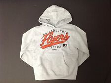 Reebok NHL Philadelphia Flyers Hockey Sweatshirt Distressed Hoodie andPockets