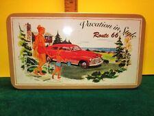 Route 66 Retro Vintage Look Decorative Oblong Metal Tin Storage Container