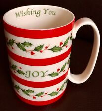 "Lenox ""Holiday"" American By Design ""Wishing you Joy"" Christmas Bone China Mug"