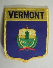 Vintage Vemont Flag US Travel Souvenir Embroidered Iron On Patch