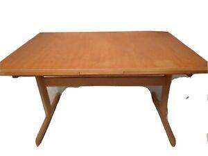 Vintage EDSBY VERKEN Mid Century Danish Modern Dining Set Ext Table & Six Chairs