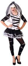 Ladies Frankenstein Monster Bride Halloween Fancy Dress Costume Outfit 16-18
