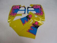 k13. Suzuki RM 250 Sticker Decor Set Decor Blue Pink Yellow Set Fairing