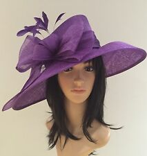 Suzanne Bettley purple WEDDING ASCOT Hat Occasion Mother Of The Bride SINAMAY