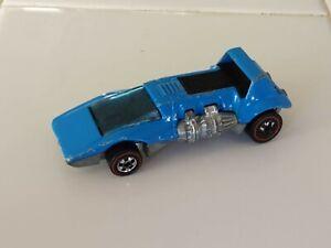 DOUBLE HEADER Original Hot Wheels Light Blue Enamel 1973 redline