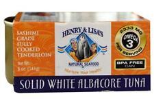Henry & Lisa Natural Seafood-Sashimi Grade White Albacore Tuna (12-5 oz cans)