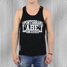 Label 23 Herren Tank Top DZ Muskelshirt schwarz Label23 Muskel Shirt Men's black