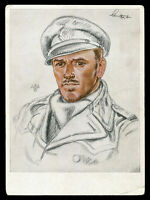1939 Germany 3rd Reich Willrich Postcard German WWII Hitler Commander Schultze