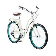 "26"" Womens Cruiser Bike Schwinn 7-Speed Bicycle Cream Rear Rack Retro Fairhaven"