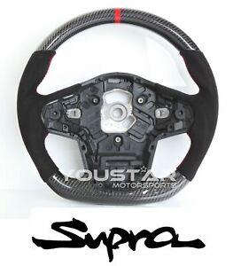 D-type CARBON Suede Alcantara Steering Wheel for TOYOTA GR SUPRA A90 A91 SZ RZ