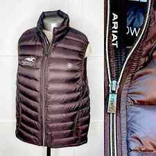 Ariat Quilted Duck Down Vest Preakness Equestrian Brown Collared Sleeveless S