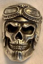 "4 Troy Oz. MK BarZ  ""Skully Squadron Pilot""  Sand Cast .999 FS"