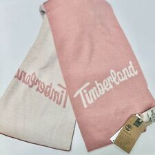 Timberland Pink Color Block Knit Scarf