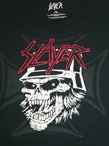 SLAYER XL T-Shirt SKELETON MILITIA SLAYER T SHIRT SLAYER SKULL SHIRT *EUC* 2017