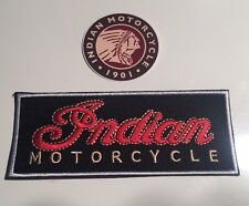 "NEW INDIAN MOTORCYCLES embroidered Badge Patch (4.5""x 1.75"") & Sticker"