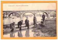 LIMOGES (87) PECHEUR au NETTOYAGE du materiel au PONT DE LA REVOLUTION en 1905