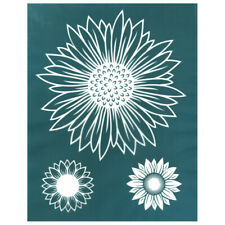 Sunflower Trio 1 Design Silk Screen Print Stencil, for Ceramic, Fabric, Wood etc