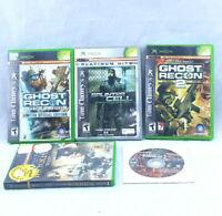 XBOX 5 Game Lot Shooter Ghost Recon Splinter Cell Rainbow Six Full Spectrum War