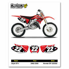 2002-2003 HONDA CR 125-250 Dirt Bike Custom Number Plate GRAPHICS BY ENJOY MFG