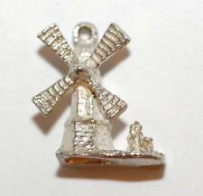 Dutch Windmill Sterling Silver Vintage Bracelet Charm With Gift Box 2.4g