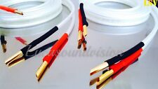 NEW 2 x 3m (A Pair) VAN DEN HUL- CLEARWATER Audio Speaker Cables Terminated