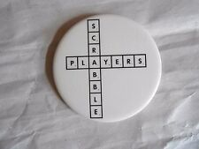 Vintage Scrabble Players Crossword Boardgame Advertising Pinback Button
