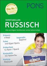 NEU: PONS Verbtabellen RUSSISCH - russische Verben Formen und Zeiten lernen