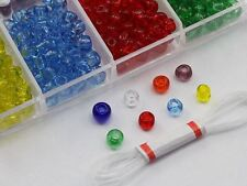 Transparent Colors Glass Bead Kit Over 500 Pieces